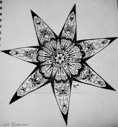Seven pointed star 1 by OidhcheBan-dia on DeviantArt Cherokee Symbols, Cherokee Nation, 7 Pointed Star, Cherokee Tattoos, Native American Cherokee, Star Art, Star Tattoos, Magick, Wicca