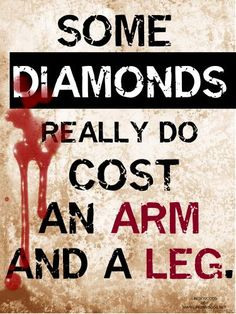 This is why I have told my husband to never again buy me a diamond. And a few other jewels. KNOW WHERE THOSE ROCKS CAME FROM!
