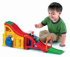 Fisher-Price Little People Wheelies Rev n Sounds Race Track. Fisher-Price Little People Wheelies Rev n Sounds Race Track