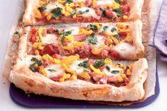 Pizza koláč   Apetitonline.cz Hunger Strike, Mozzarella, Vegetable Pizza, Toast, Menu, Lunch, Vegetables, Fit, Lasagna