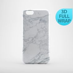 White Marble Effect Case for iPhone 4 4s 5 5s 5c 6 6s by GiftsMK