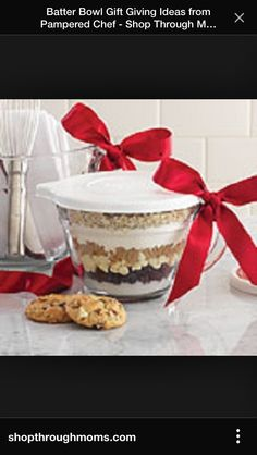 Cookie mix layered pampered chef jug ❤️