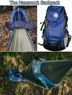 Cool backpack hammock