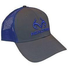 Realtree Blue Antler Logo Mesh Back Hat