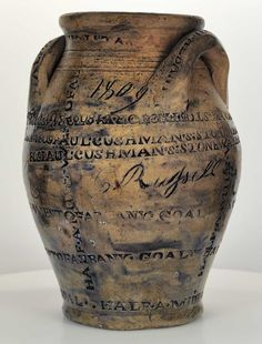 One of the coolist stoneware crocks I've ever seen. Paul Cushman, 1809