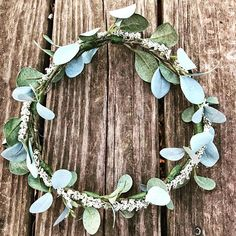 Simplicity at its finest! Handmade from beautiful floral greenery pieces with a simple touch of ivory.Other colors and custom orders may be available by request) Our handmade flower crowns are the perfect addition to any wedding or special occasion. Can be worn on the head or around