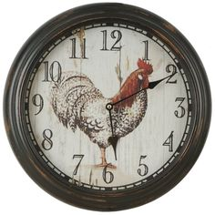 Shop Hobbitholeco  Rooster clock at Lowe's Canada. Find our selection of wall clocks at the lowest price guaranteed with price match + 10% off.