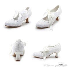 2014 New Arrival Lace Pointed Satin White Ivory Wedding Shoes | Buy Wholesale On Line Direct from China