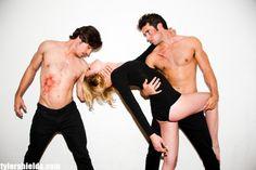 Nick Weschler (Jack Potter), Emily Van DeCamp (Emily Thorne) and Josh Bowman (Daniel Grayson) are the stars of Revenge.