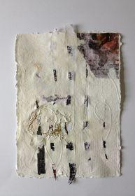 """Bettina Bradt """"Le lettre"""" Papiercollage, handgeschöpft"""