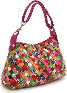 Multi Colored Purse | Multi-Color Ecoist Limited Edition Candy Wrapper Hobo Handbag