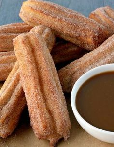 Baked churros recipe - Everyday Dishes & DIY, Desserts, We skipped the deep fryer and made baked churros instead! They're great for parties or as a taco night dessert. Easy Baking Recipes, Cooking Recipes, Cooking Tips, Beef Recipes, Desserts Espagnols, Dessert Recipes, Taco Dessert, Cake Recipes, Dessert Food