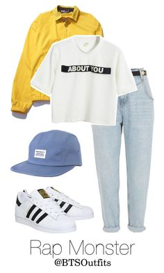 """Imitating Him at a Fansign: Rap Monster"" by btsoutfits ❤ liked on Polyvore featuring Norse Projects, River Island, Polo Ralph Lauren, Chicnova Fashion and adidas"
