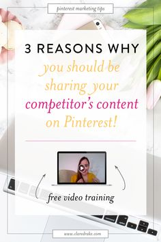 """NEW VIDEO TRAINING! Learn the 3 reasons you should be sharing your competitor's content on Pinterest, what your sharing ratio should actually be and why I think the notion of us having """"competitors"""" is nonsense! #pinterestforyourbusiness #pinterestforbusinesstips #pinteresttips #pinteresttraffic #tailwindtribes"""