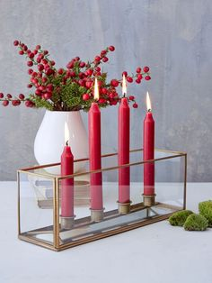 Here's a beautifully versatile candle box with a smart aged brass edging.