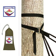 Hammock Bliss Deluxe Cinching Tree Strap - Pair