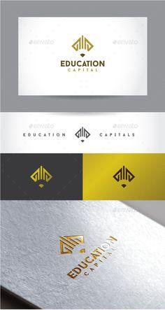 Education Capital: Symbol Logo Design Template created by creativesole. Logo Design Template, Logo Templates, Academy Logo, Education Logo Design, University Logo, School Logo, Creative Logo, Logo Inspiration, Logo Branding
