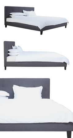 Elegant, understated style. Tuck yourself into this handsome Henson Bed and prepare for instantly elevated evenings. This Danish modern-inspired design boasts a clean, contemporary silhouette wrapped i...  Find the Henson Bed, as seen in the Warehouse Blowout Sale: Furniture & Lighting Collection at http://dotandbo.com/collections/warehouse-blowout-sale-furniture-and-lighting?utm_source=pinterest&utm_medium=organic&db_sku=124342