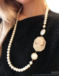 Pearl necklace for women with sardonic cameo, this statement necklace is a perfect Christmas, anniversary or birthday jewelry gift for your mom or your wife. They will be happy to wear them in special occasions. Visit the website to see more. Cameo Jewelry, Cameo Necklace, Jewelry Gifts, Pearl Necklace, Trendy Jewelry, Jewelry Necklaces, Fashion Jewelry, Crystal Jewelry, Charm Jewelry