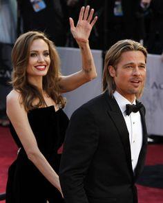 Brad Pitt and Angelina Jolie (Famous Couple, Both great actors) Angelina And Brad Pitt, Brad And Angie, Brad Pitt And Angelina Jolie, Jolie Pitt, Anjolina Jolie, Hollywood Couples, Celebrity Couples, Actrices Hollywood, Famous Couples