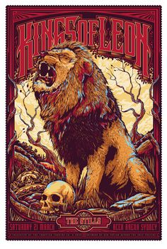 Kings of Leon gig poster! LION! #rawr
