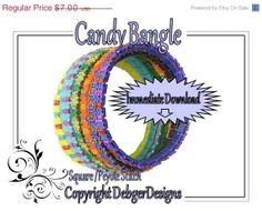 ON SALE Candy Bangle  Beading Pattern Tutorial by DebgerDesigns, $4.69