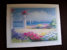 Signed Art Print by Nora DeBolt 1999  VIEW at the BAY  28 x 22 by LIZ404 on Etsy