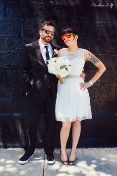 City Blush Wedding : Amy and Jason - small wedding at Creativo Loft http://www.creativoloft.com