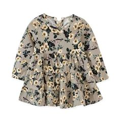 Girls' Baby Clothing 2pcs Newborn Kid Baby Girl Romper Bodysuit+floral Dress Skirt 2pcs Outfit Long Sleeve Spring Autumn Baby Girls Clothes Set 0-24m