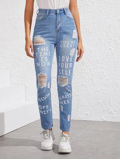 Jean Diy, Jean Délavé, Jeans Denim, Ripped Jeans, Skinny Jeans, Distressed Jeans, Style Blog, Latest Jeans, Slogan