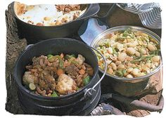 Potjiekos, legacy of the early Dutch settlers, who used to cook stew in a pot over an open fire - South Africa food history and culture South African Dishes, South African Recipes, Ethnic Recipes, South Africa Tours, Grubs, Outdoor Cooking, Main Meals, Stew, Camp Fire