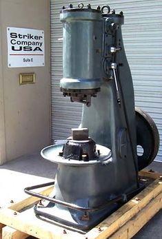 Striker 165 lb pneumatic forging hammer.