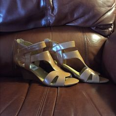 Tan Nine West Sandals  Nine West Brand new sandals.  Too big for me.  They are so darn cute and great quality!  Hope someone can enjoy them! Nine West Shoes Sandals
