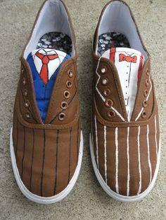 Doctor Who Shoes by Ittarius on deviantART...Doctor Who .. :)... http://www.pinterest.com/cwsf2010/doctor-who
