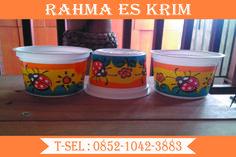 Cup Es Krim Plastik Ukuran 100ml yang lucu