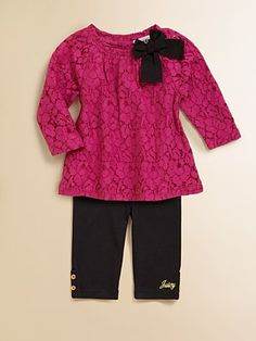Juicy Couture Infant's Lace Top and Legging Set