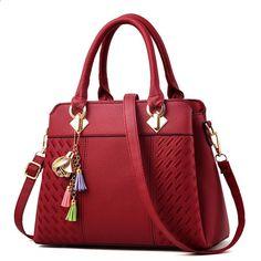 Dámská kabelka PU Kožená dáma kabelky Luxusní pouzdro na rameno Velké  kapacity Crossbody Tašky Ženy Casual Tote 5107204842e