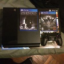 Sony Playstation 4 PS4 Bundle With Diablo 3 and Dishonored Definitive Edition