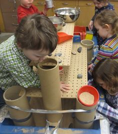 This takes sand play to a whole new level - literally!  This is cool and imagine all the fine motor activities with that peg board ie weaving, pipe cleaners, screws and nuts, etc.