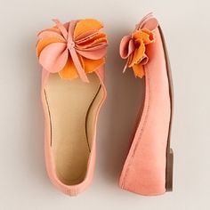 Pink and orange shoes from J. Crew.