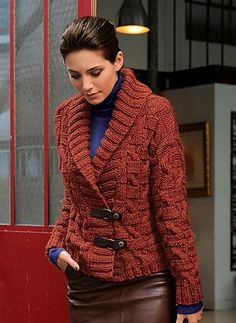I know it's a pattern but I love the whole outfit! Ravelry: 592 - Short Jacket pattern by Bergère de France
