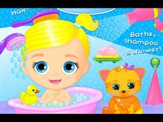 Baby Doll House Lily & Kitty - Kids Play Baby Care games for Babies & To...