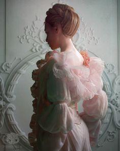 Pink Dress, Marianna Yakimova on ArtStation at https://www.artstation.com/artwork/4KP1L