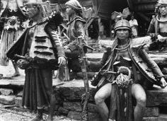 Sheet metal armor used by natives on the Indonesian island of Nias. Thin handmade armor was used to repel enemy arrows during the many civil wars fought amongst the islands inhabitants. The warrior on the right is holding a large blunderbuss.