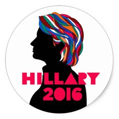 Hillary 2016: Retro Bob Dylan Design Sticker. The answer my friend is... Hillary Clinton for President! #imwithher #president #election #vote #campaign