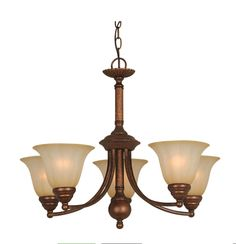 "Hardware House 5 Light - Height: 20"" - Madrid Chandelier, Antique Bronze"