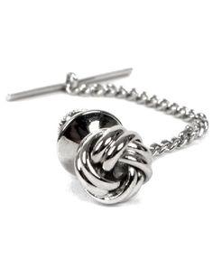 Sailor's Knot Premium Tie Tack (Silver) Mens Attire, Tie Pin, Pocket Squares, Lapel Pins, Tack, Knot, Cufflinks, Suit Jacket, Thing 1