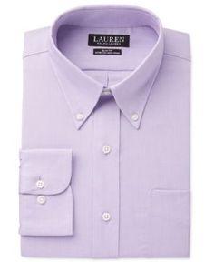 Lauren Ralph Lauren Men's Slim-Fit Dress Shirt - Lavender 16.5 36/37