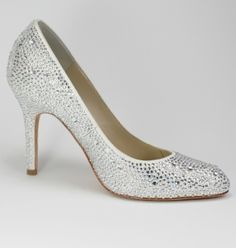 00bb1cd043 GRACE CRYSTAL 3 1/2 Comfortable Bridal Shoes, Comfortable Heels, Dyeable  Shoes,