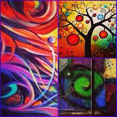 Abstract art collage - a sample of our abstract imports.com designs! Check us out online